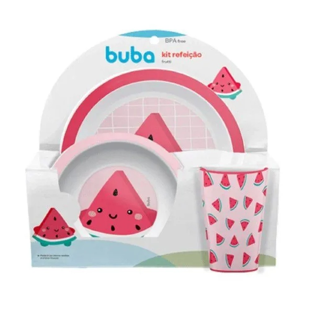 Kit Refeição Frutti Melancia - Buba 12746