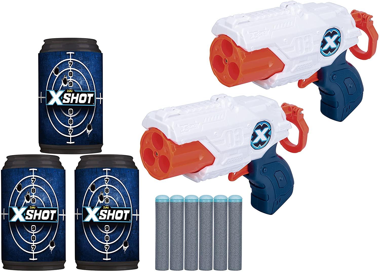 Lança Dardos XShot Double MK3 com Latas - Candide 5514