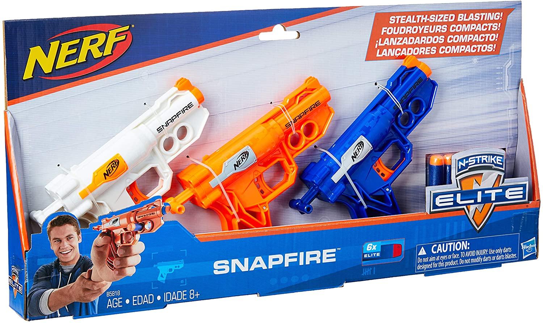 Lançador Dardo Ner Elite Snapfire 3 Pack - Hasbro B5818