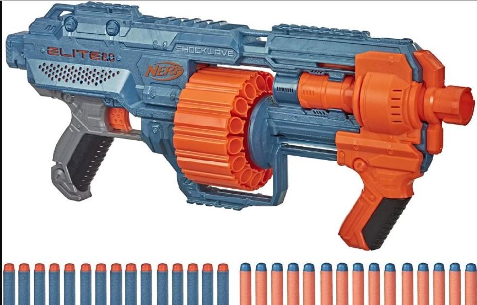 Lançador Dardos Elite 2.0 Schockwave Nerf - HasbroE9531