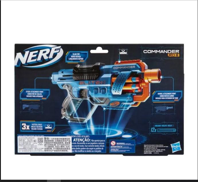 Lançador de Dardos Elite 2.0 Commander Nerf - Hasbro E9486