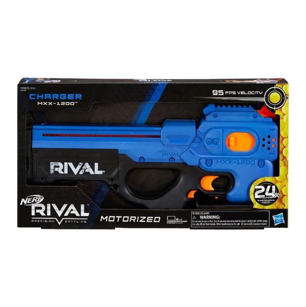 Lançador de Dardos Nerf Rival Charger Mxx 1200 Azul - Hasbro E8449