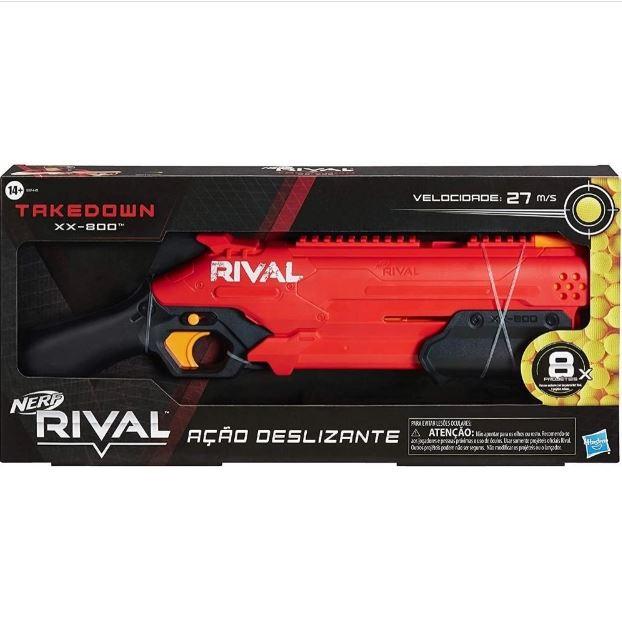 Lançador de Dardos Nerf Rival Vermelha TakeDown 800 - Hasbro E8446