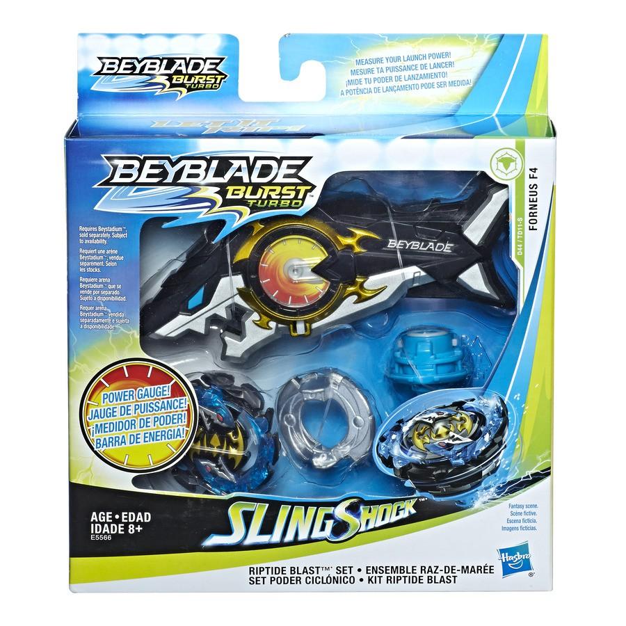 Lançador e Pião de Batalha Beyblade SlingShock Forneus F4 - Hasbro E5566