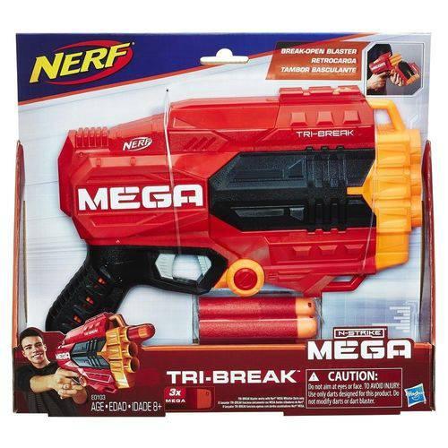 Lançador Nerf Mega Tri Break E0103 Hasbro