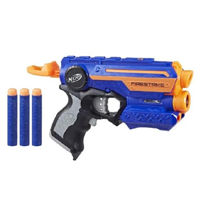 Lançador Nerf Nstrike Elite Firestrike Azul A0709 - Hasbro