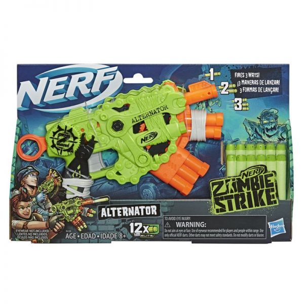 Lançador Nerf Zombie Strike Alternator Hasbro E6188