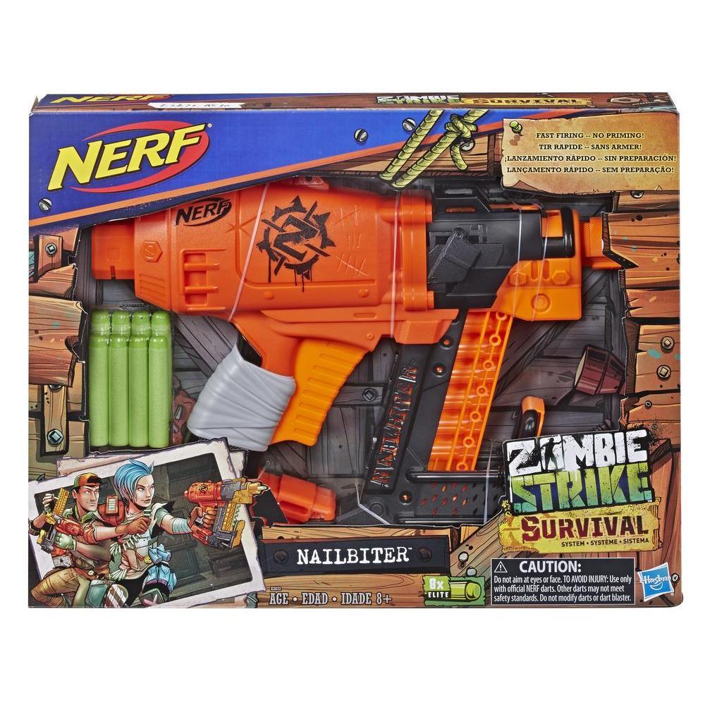 Lançador Nerf Zombie Strike Nailbiter E2672 - Hasbro