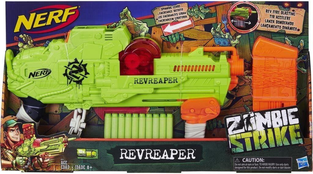Lançador Nerf Zombiestrike Revreaper E0311 Hasbro