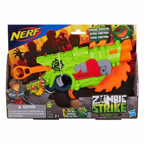 Lançador Nerf Zumbie Strike Crosscut B3482 - Hasbro