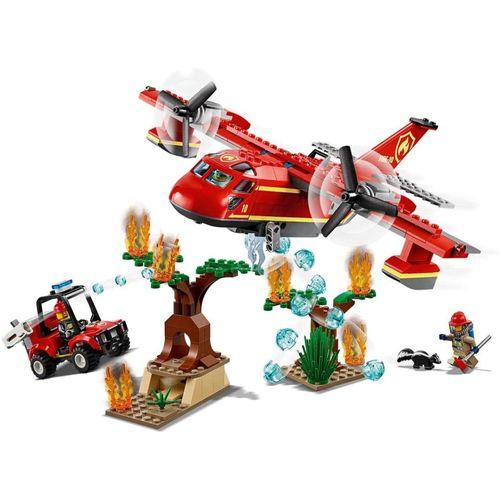 Lego City Aviao De Combate Ao Fogo - 60217
