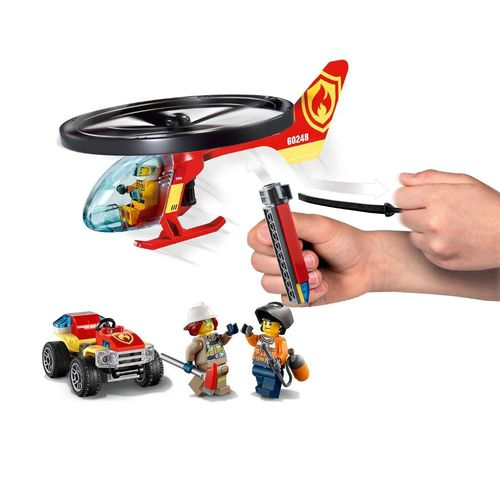 Lego City Combate ao Fogo com Helicoptero com 93 Peças - 60248