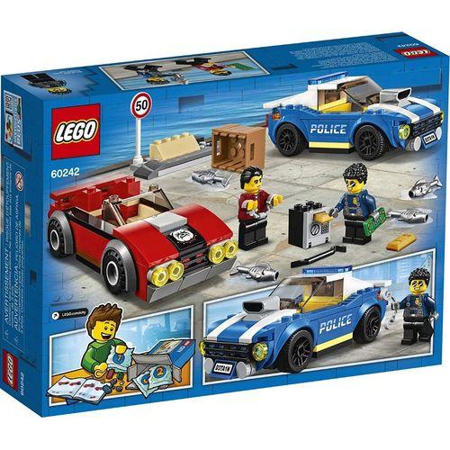 Lego City Detençao Policial na Autoestrada 185 Peças - 60242