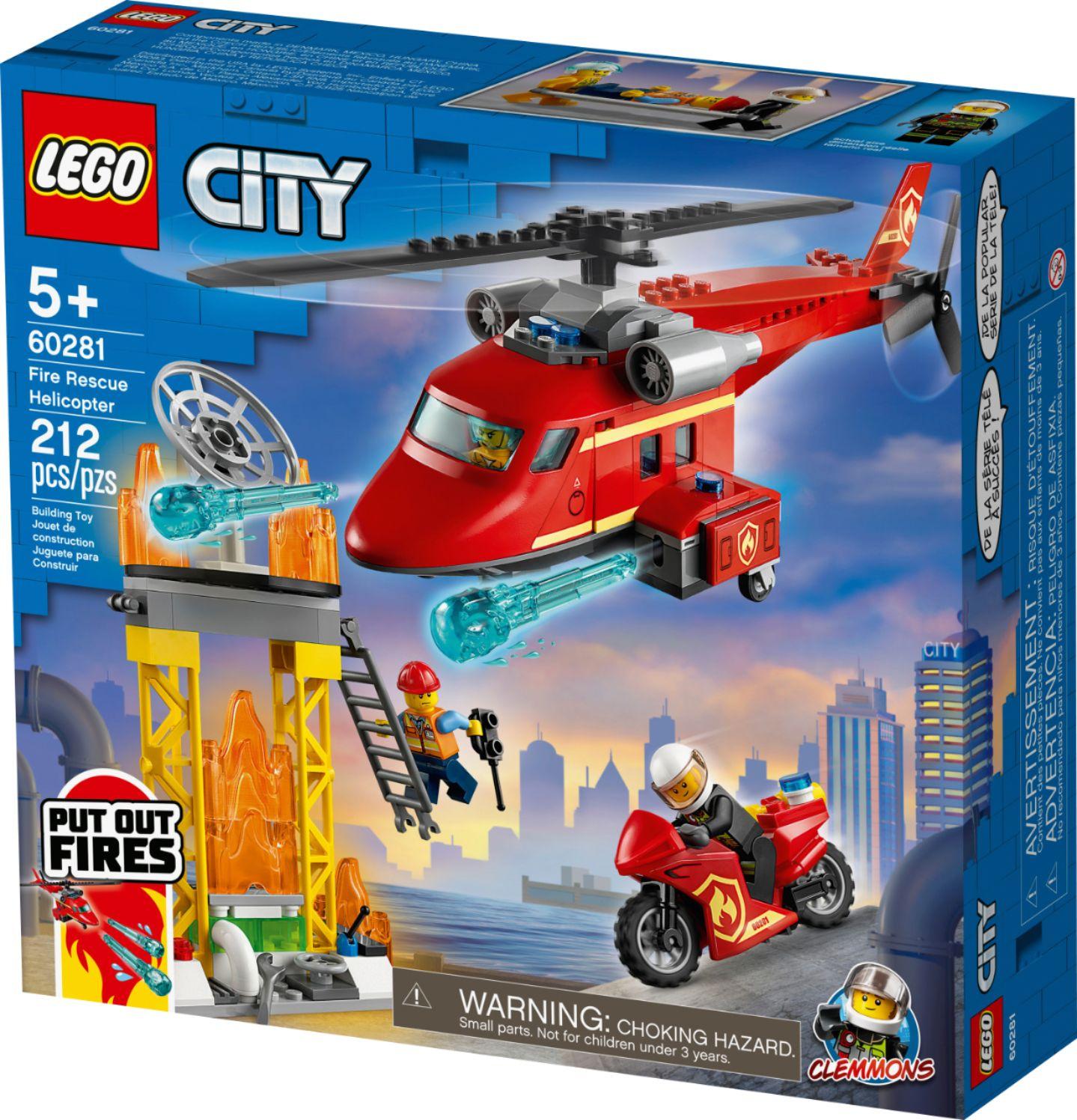 Lego City Incêndio Helicóptero De Resgate Bombeiros - Lego 60281