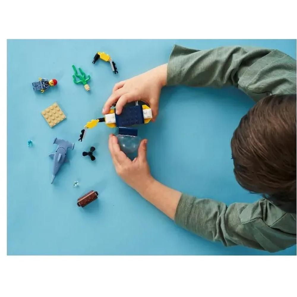 Lego City Mini Submarino Oceânico 41 Peças - Lego 60263