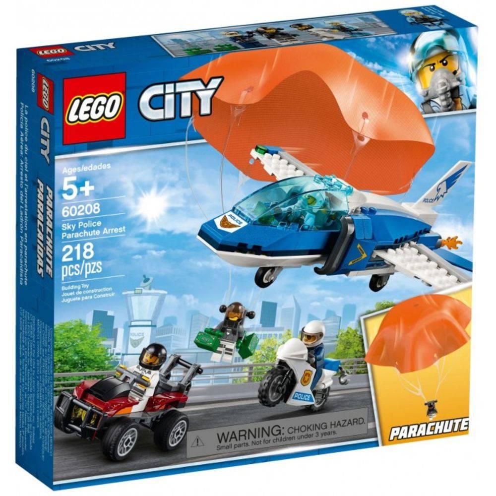 Lego City Polícia Aérea Detenção De Para-quedas 60208