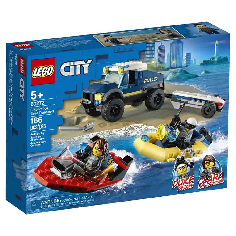 Lego City Transporte de Barco da Policia de Elite-Lego 60272