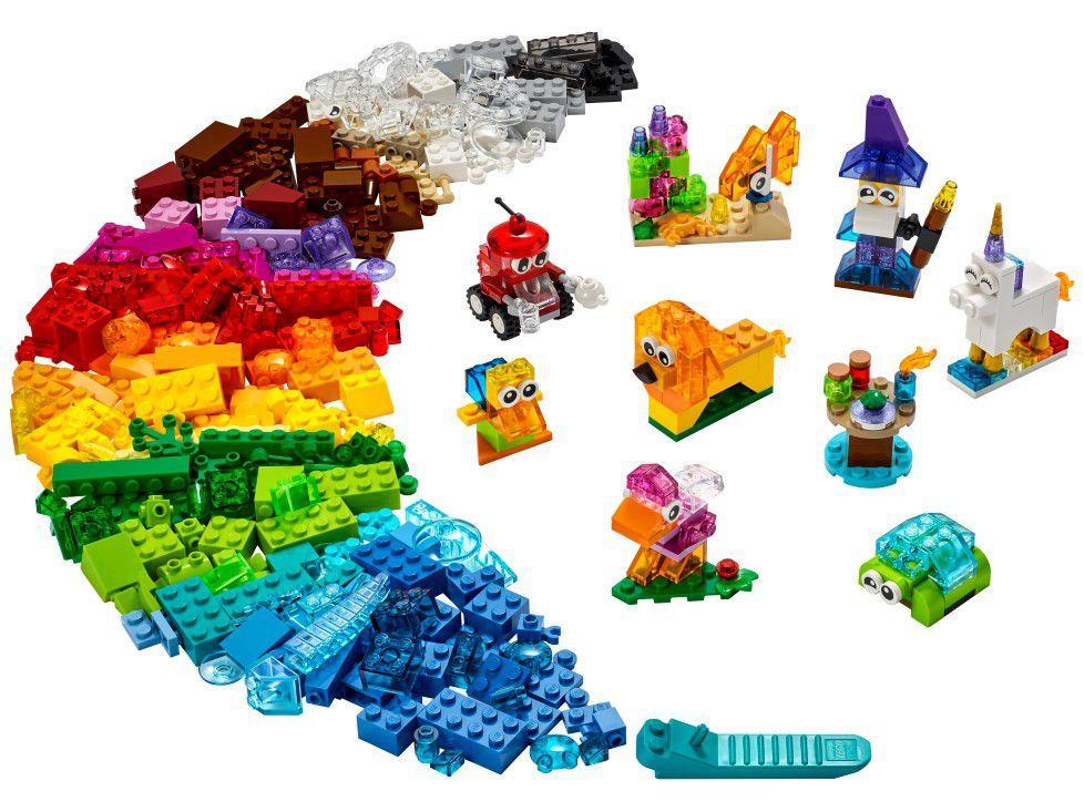 Lego Classic Blocos Transparentes Criativos - Lego 11013