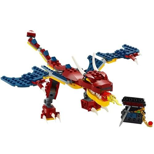 Lego Creator 3 em1 Criatura Dragao do Fogo 234 Peças -31102