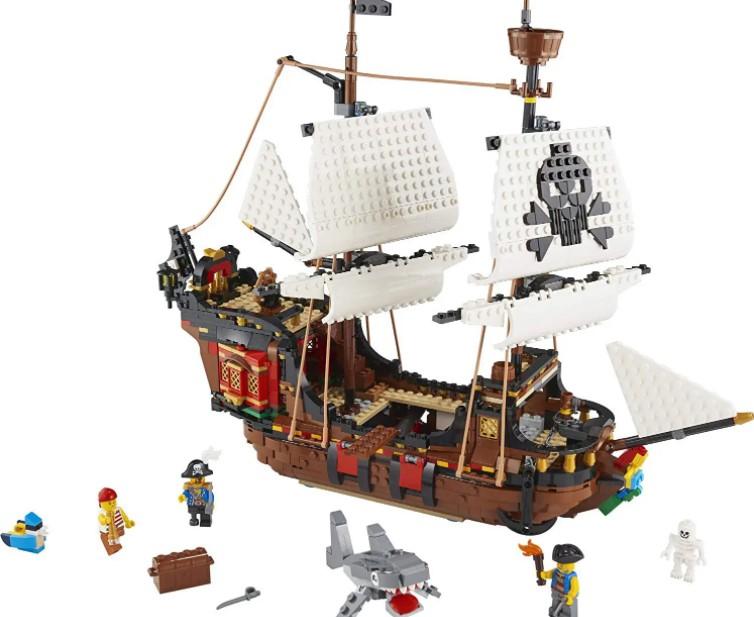 Lego Creator 3 em 1 Barco Pirata v39 - Lego31109