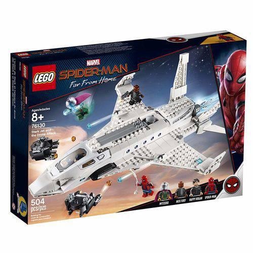 Lego Homem aranha O Avião Stark E Ataque Do Drone 76130