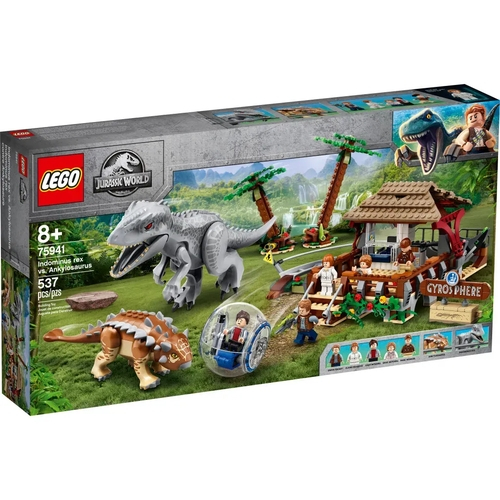 Lego Jurassic A Volta da Girosfera Indominus Rex Vs. Anquilossauro - Lego 75941