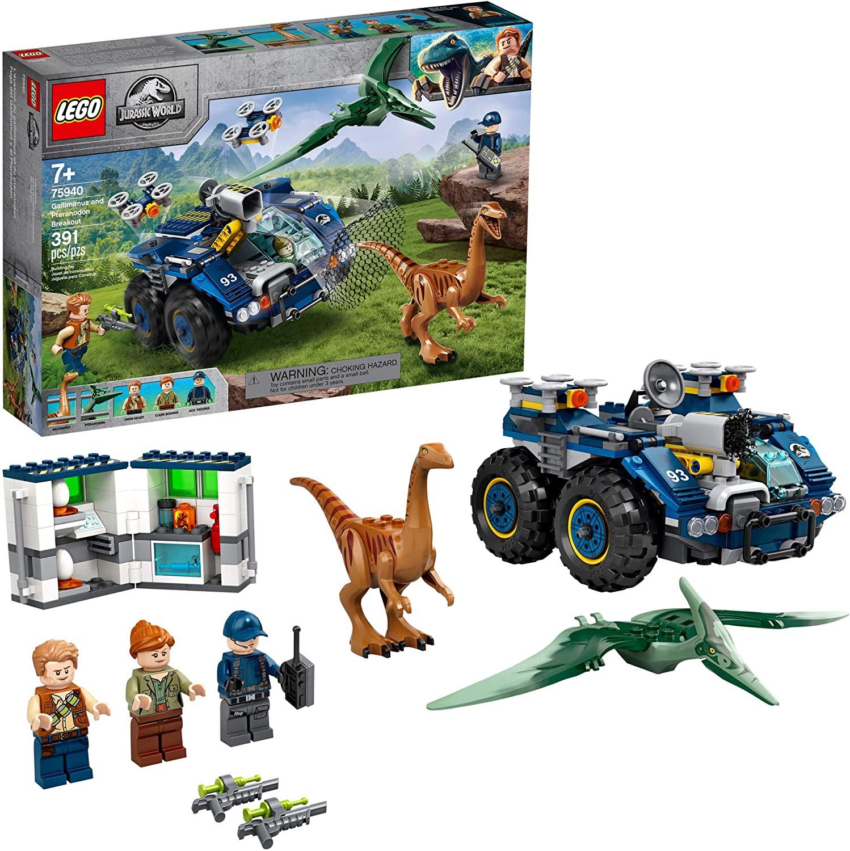 Lego Jurassic World Gallimimus e Pteranodonte Missão de Recaptura - Lego 75940
