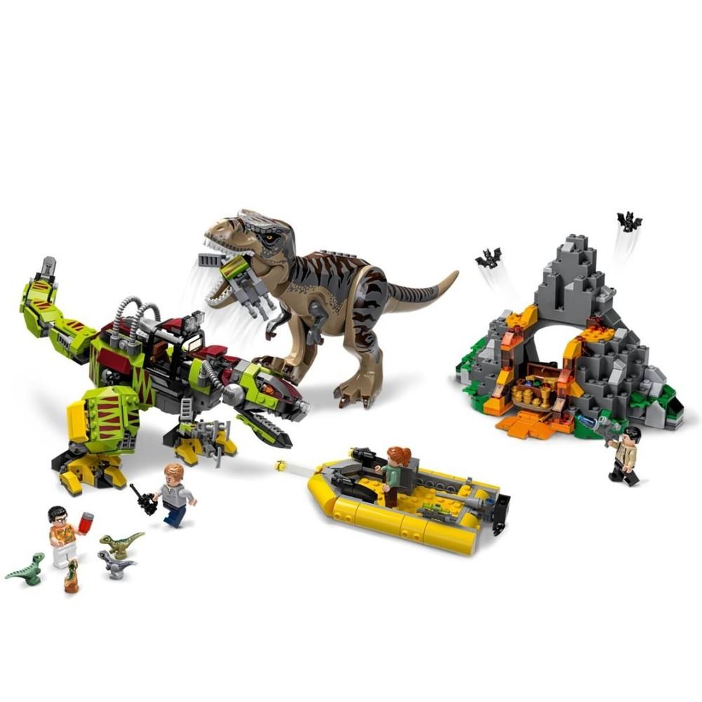 Lego Jurassic World T Rex E Robô Dino - 75938