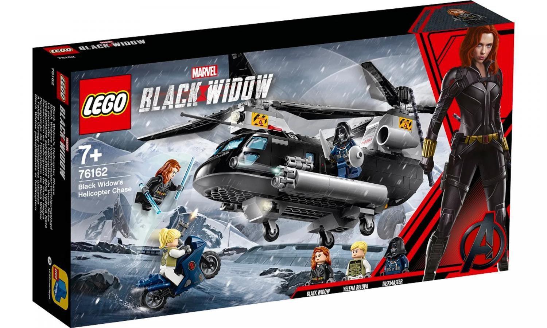 Lego Marvel Perseguição Helicóptero Viúva Negra - Lego 76162