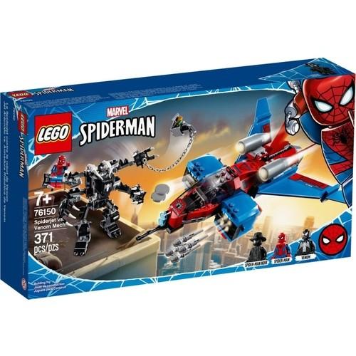 Lego Marvel Super Heroes Spider Jet vs Robo Venom Mech-76150