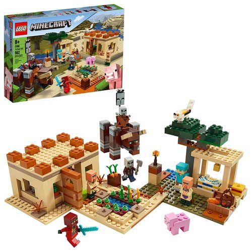 Lego Minecraft  Ataque De Illager - 21160