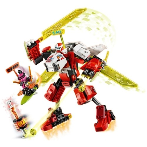 Lego Ninjago 2 em 1 O Jato Robo do Kai com 217 Peças - 71707