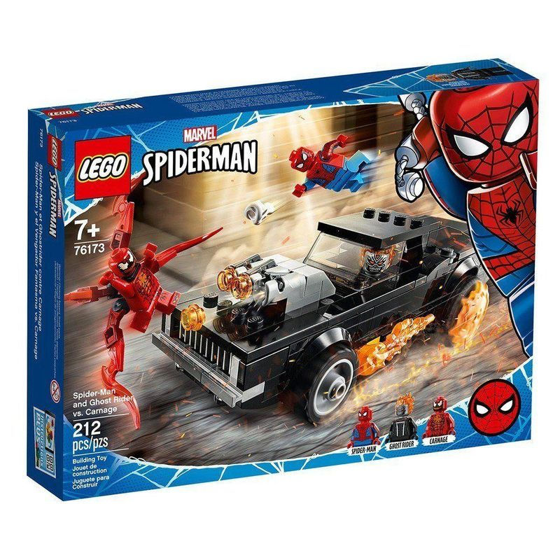 Lego SpiderMan Homem-Aranha e Ghost Rider Vs. Carnage - Lego 76173