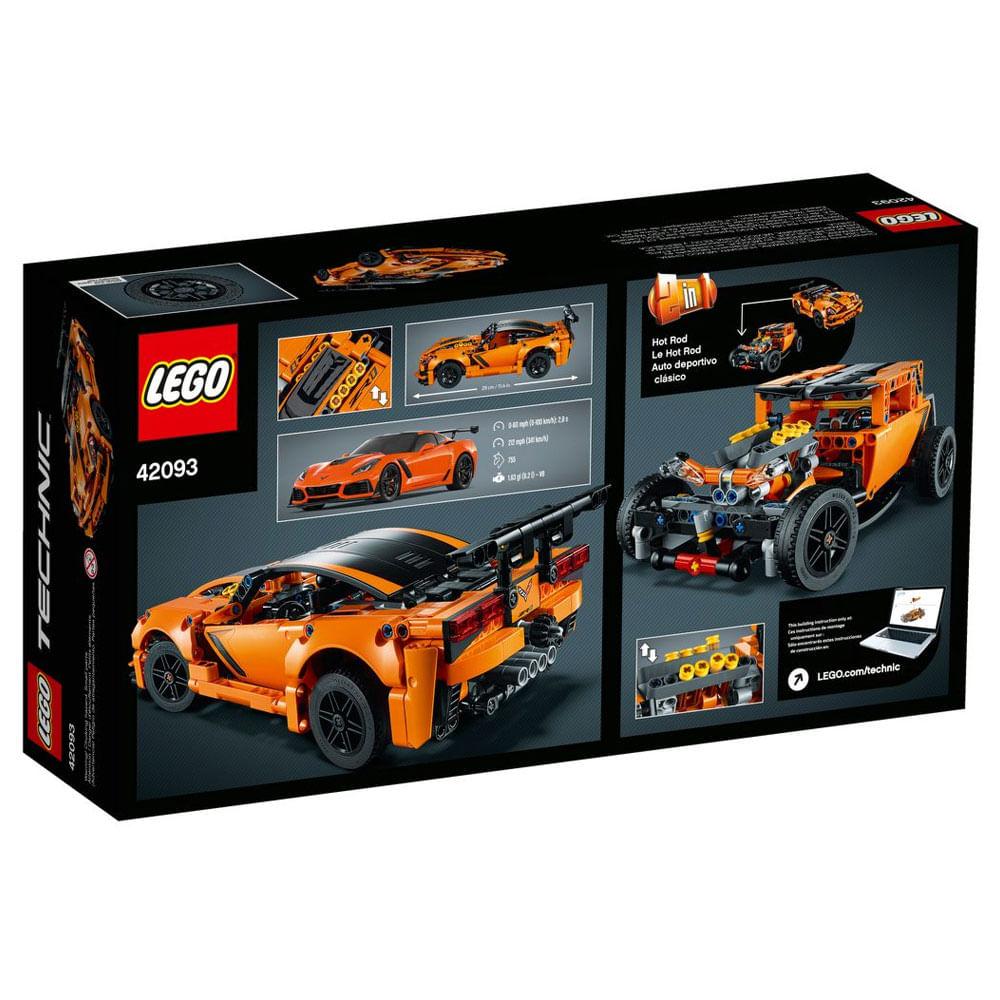 Lego Technic Supercarros Chevrolet Corvette ZR1 - Lego 42093