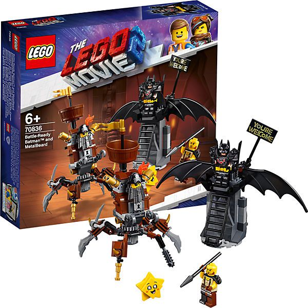 Lego The Movie Lego 2 Batman e Barba de Ferro Prontos para Batalha 70836