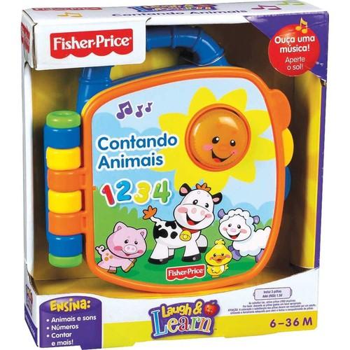 Livrinho Aprender e Brincar Contando Animais - Fisher-Price P5318