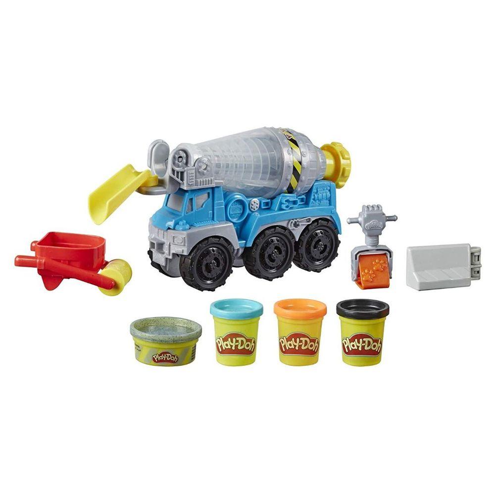 Massa de Modelar Play-Doh Wheels Caminhão de Cimento - Hasbro E6891