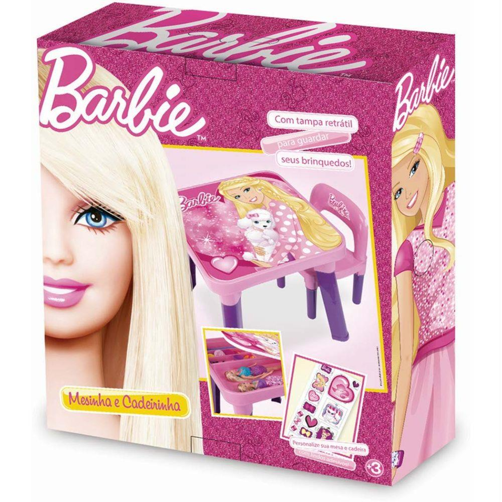 Mesa com cadeira Barbie - Fun 69269
