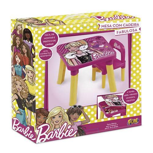 Mesa Com Cadeira Barbie - Fun BB6000