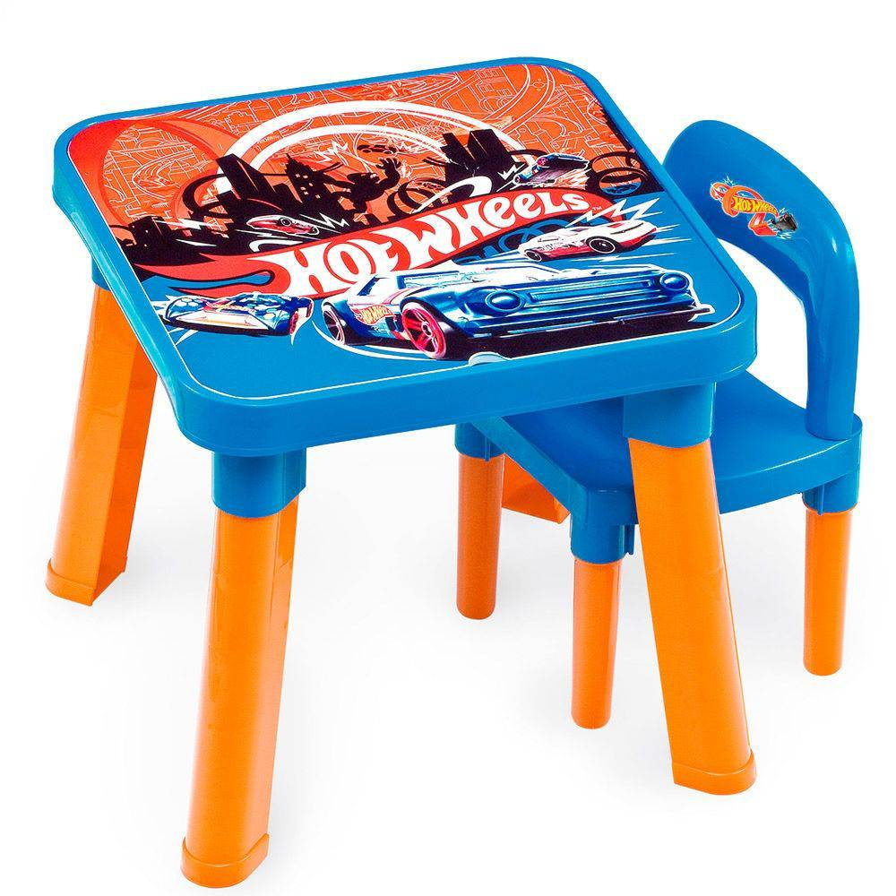 Mesa Com Cadeira Hot Wheels - Fun 69270
