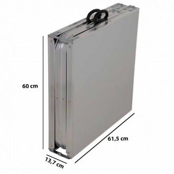 Mesa de Alumínio Dobrável Brisa 2,39m x 62cm - Mor 3413