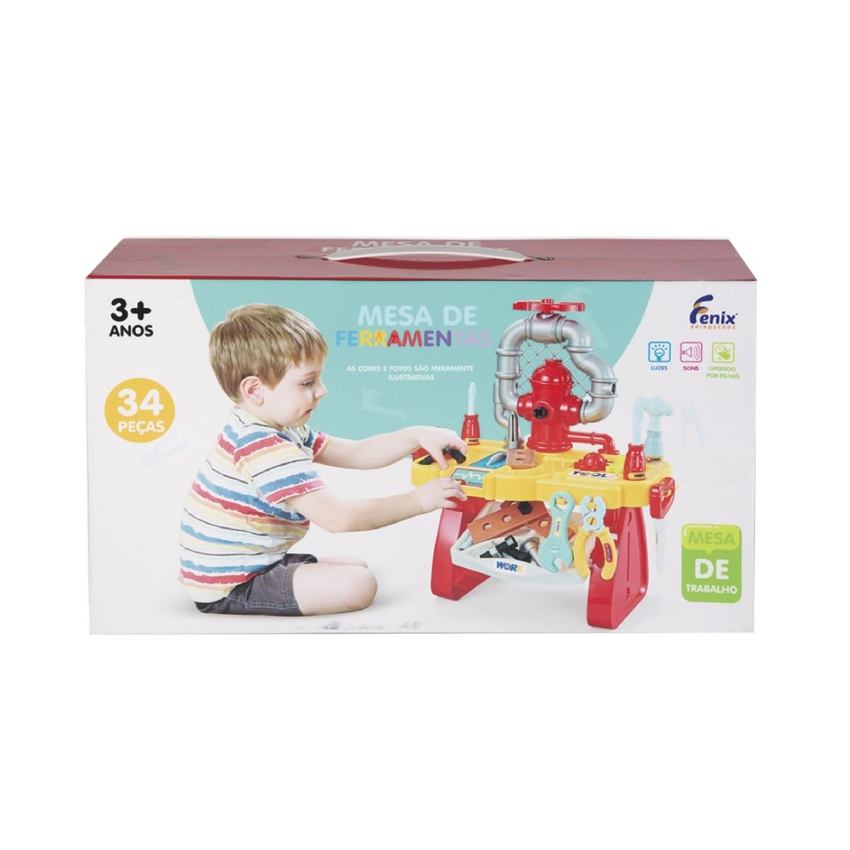 Mesa de Ferramentas Infantil com Luz e Som - Fenix 564