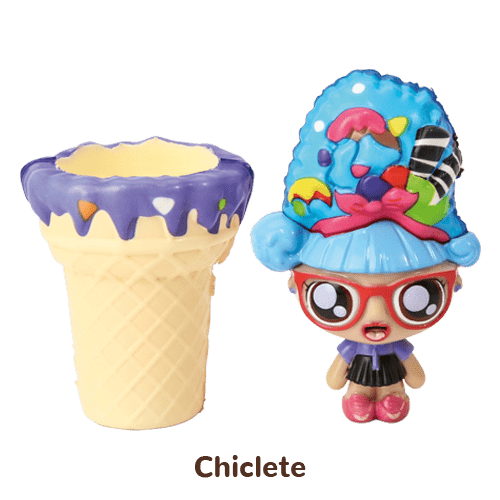 Mini Boneca 13 Cm Gelateenz com Cheirinho Sorvete Torta de Chiclete 5106 - DTC