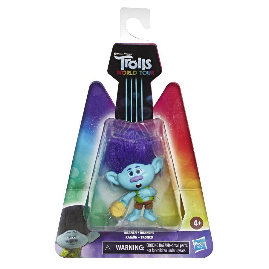Mini Figura com Acessórios DreamWorks Trolls World Tour Tronco Hasbro E6568