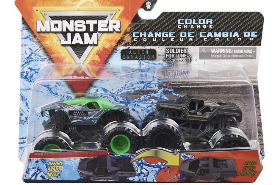 Monster Jam 1:64 Rodas Livres Alien Invasion Vs Soldier Fortune  - Sunny 2020