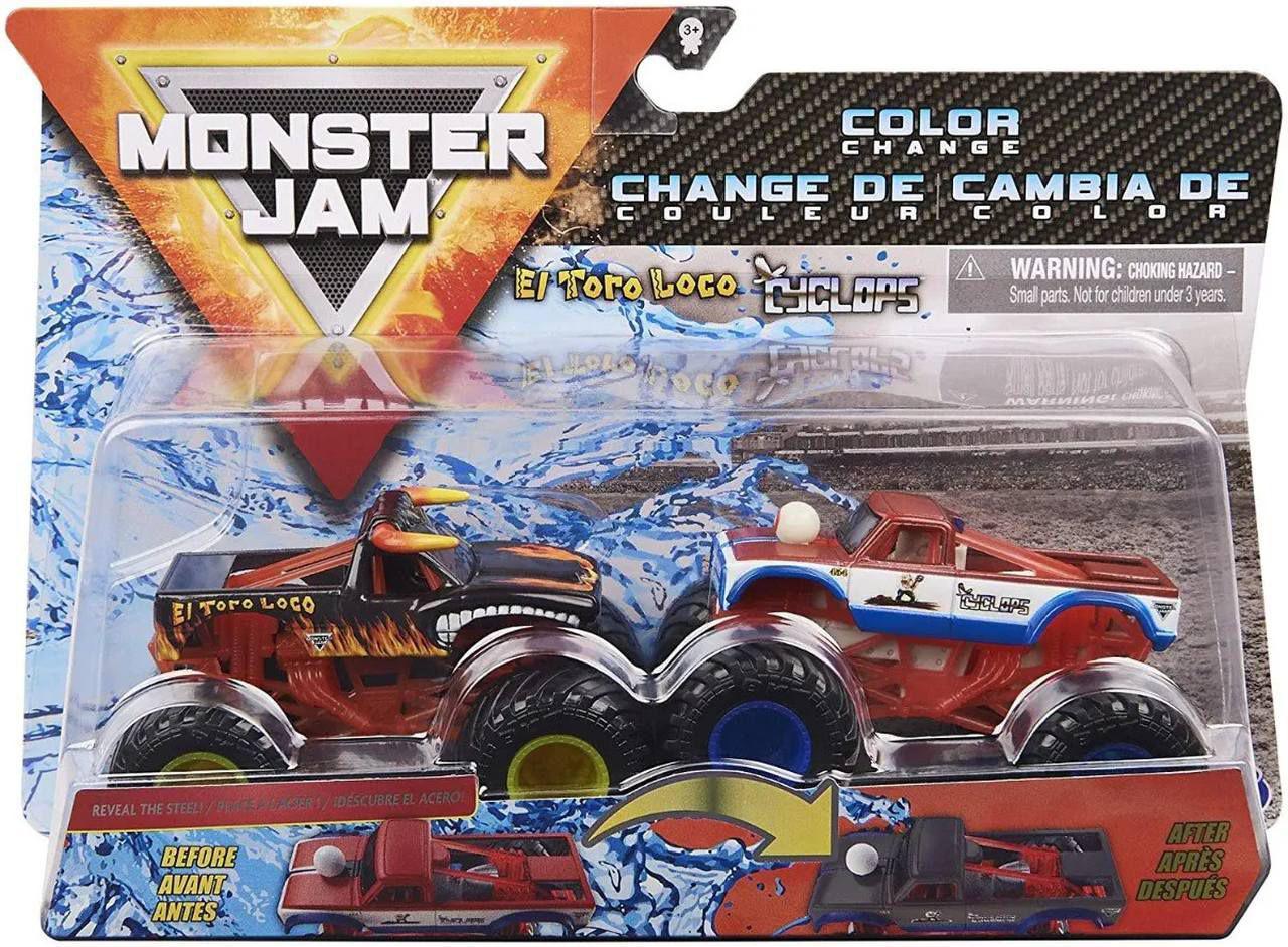 Monster Jam Escala 1:64 Rodas Livres El Toro Loco Vs Cyclops  - Sunny 2020