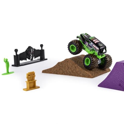 Monster Jam Playset c/ Massa Areia Grave Digger Monster Dirt - Sunny 2024