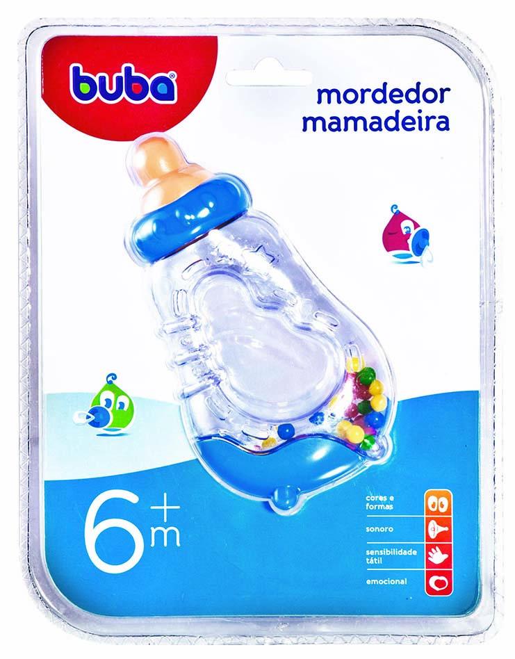 Mordedor Chocalho Mamadeira Azul 943 - Buba