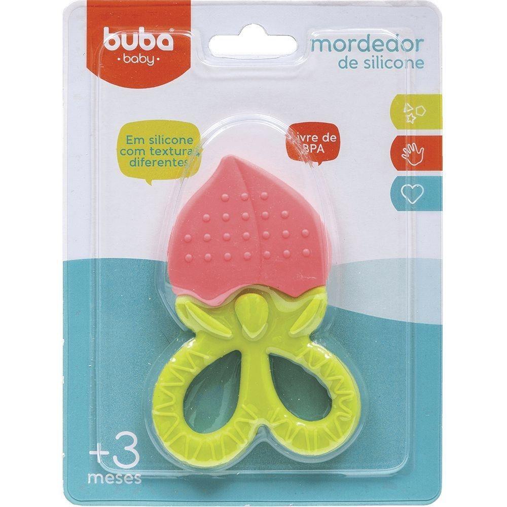Mordedor de Silicone Morango - Buba 09799