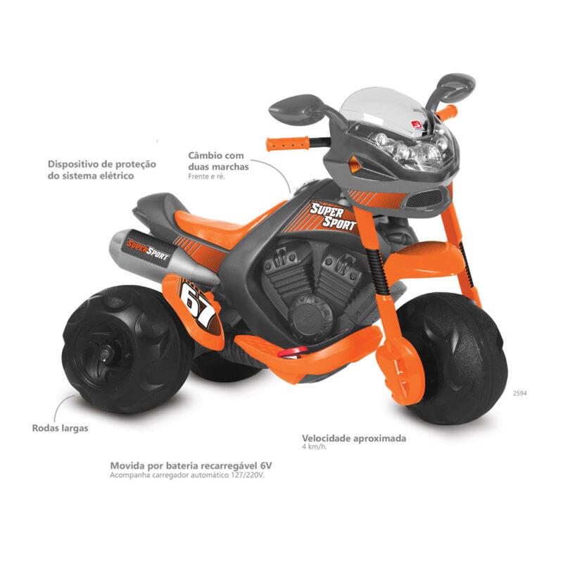 Moto Elétrica 6V Supersport - Bandeirante 2594